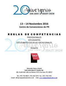 13 14 Noviembre 2016 Centro de Convenciones de PR