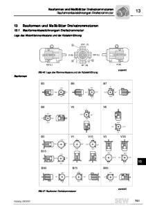 13 Bauformen und Maßblätter Drehstrommotoren