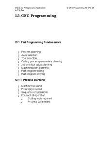 13. CNC Programming Part Programming Fundamentals