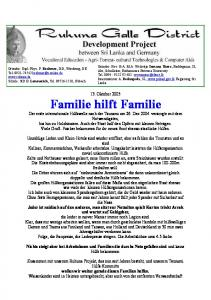 13. Oktober 2005 Familie hilft Familie