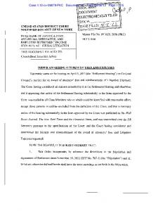 13 Page 1 of 5 ORDER AWARDING ATTORNEYS' FEES AND EXPENSES