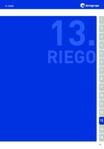 13. RIEGO. 13. RIEGO