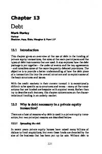 13.2 Why is debt necessary in a private equity transaction?