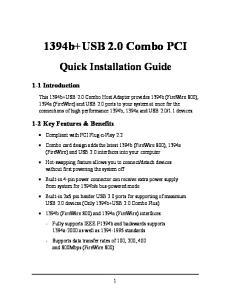 1394b+USB 2.0 Combo PCI