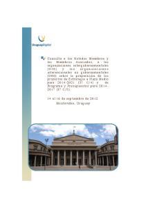 14 al 16 de septiembre de 2012 Montevideo, Uruguay