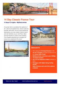 14 Day Classic France Tour