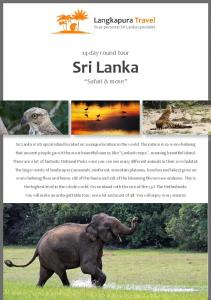 14-day round tour. Sri Lanka. Safari & more