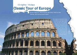 14 days Classic Tour of Europe