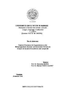 14 (Direttore: Prof. Dr. M