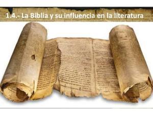 1.4.- La Biblia y su influencia en la literatura