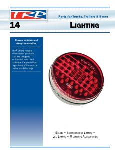 14 Lighting. Bulbs Incandescent Lamps. Parts for Trucks, Trailers & Buses. Proven, reliable and always innovative
