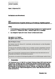 14 Sekundarstufenzentrum Burghalde; Sanierung und Erweiterung; Projektierungskredit