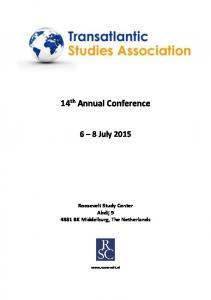 14 th Annual Conference