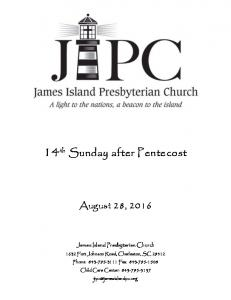 14 th Sunday after Pentecost