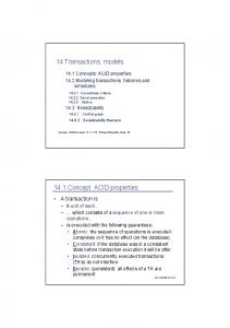 14 Transactions: models