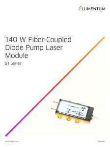 140 W Fiber-Coupled Diode Pump Laser Module. ST Series