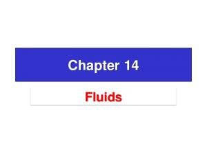 14.2 What is a Fluid?
