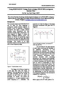 145 MHz contiguous diplexer filter