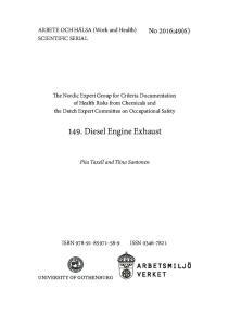 149. Diesel Engine Exhaust
