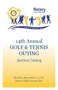 14th Annual Golf & Tennis