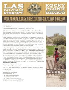14th Annual Rocky Point Triathlon at Las Palomas