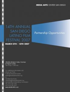 14TH ANNUAL SAN DIEGO LATINO FILM FESTIVAL 2007