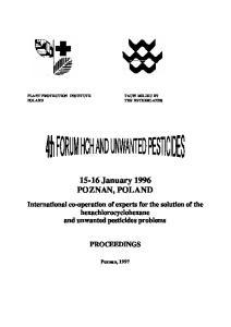 15-16 January 1996 POZNAN, POLAND