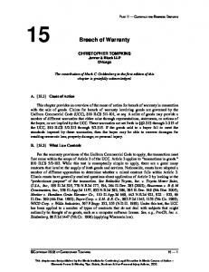 15 Breach of Warranty
