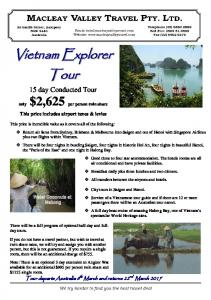 15 day Conducted Tour