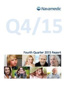 15. Fourth Quarter 2015 Report