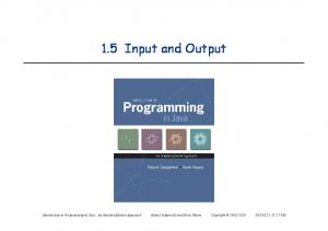 1.5 Input and Output