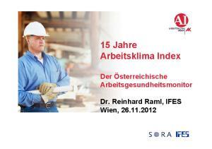 15 Jahre Arbeitsklima Index