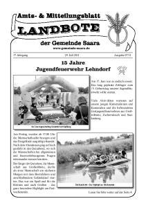 15 Jahre Jugendfeuerwehr Lehndorf