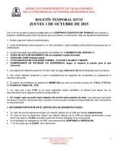 15 JUEVES 1 DE OCTUBRE DE 2015