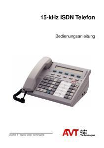 15-kHz ISDN Telefon. Bedienungsanleitung. Audio & Video over networks