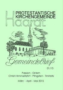 15 Passion - Ostern Christi Himmelfahrt - Pfingsten - Trinitatis