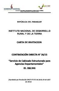 15. Servicio de Cableado Estructurado para Agencias Departamentales ID