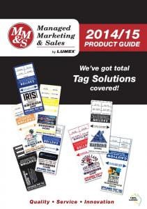 15. Tag Solutions covered! We ve got total PRODUCT GUIDE. Quality Service Innovation