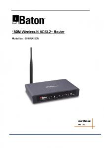 150M Wireless-N ADSL2+ Router