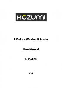 150Mbps Wireless N Router