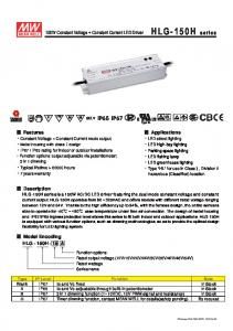 150W Constant Voltage + Constant Current LED Driver IP65 IP67