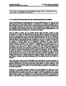 1.5.1 El planteamiento estructural-funcionalista