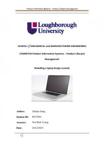 15MMP330 Product Information Systems Product Lifecycle. Management