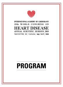 15th WORLD CONGRESS ON HEART DISEASE