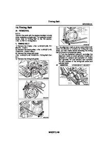 15.Timing Belt. Timing Belt A: REMOVAL ME(STI) TIMING BELT