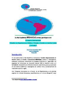 16 al 21 de Noviembre 2015 Isla de Margarita Venezuela