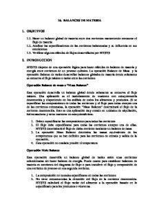 16. BALANCES DE MATERIA
