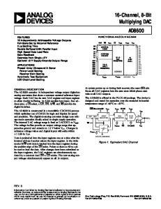 16-Channel, 8-Bit Multiplying DAC AD8600