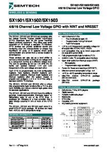 16 Channel Low Voltage GPIO WIRELESS & SENSING