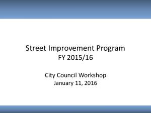 16. City Council Workshop January 11, 2016
